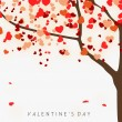 Vector de stock : Love concept, Valentines Day background.