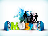 Abstract musical party background. — Stock Vector