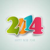 Happy New Year 2014 celebration background. — Vettoriale Stock