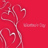 Valentines Day background, love concept. — ストックベクタ