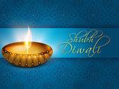 Happy diwali, das festival der lichter-feier in indien. — Stockvektor