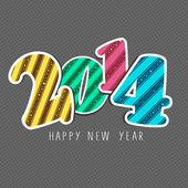 Frohes neues jahr 2014 feier hintergrund. — Stockvektor