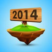 Mutlu yeni yıl 2014 kutlama arka plan. — Stok Vektör