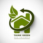 Fondo de naturaleza, eco friendly concepto. — Vector de stock