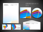 Professional corporate identity kit or business kit with artistic, abstract wave effect for your business includes CD Cover, Business Card, Envelope and Letter Head Designs in EPS 10 format. — Stock Vector