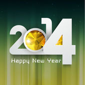 Happy New Year 2014 celebration background. — Stock Vector