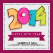 Happy New Year 2014 celebration background. — Stock Vector #37273737