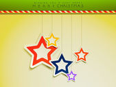 Merry Christmas celebration greeting card or background. — Stockvector