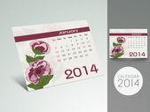 New Year 2014 calendar. — Stock Vector