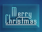 メリー クリスマスのお祝いのグリーティング カードや背景. — ストックベクタ