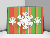 Merry Christmas celebration greeting card or background. — Stock Vector