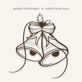 Καλά Χριστούγεννα γιορτή ευχετήρια κάρτα ή φόντο. — Διανυσματικό Αρχείο