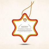 Frohe weihnachten feier grußkarte oder hintergrund. — Stockvektor