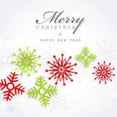 Cartolina d'auguri di buon natale celebrazione o sfondo. — Vettoriale Stock