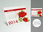 Nieuwe jaar 2014 kalender. — Stockvector