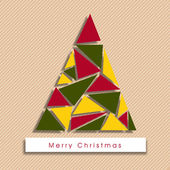 Merry christmas celebration achtergrond. — Stockvector