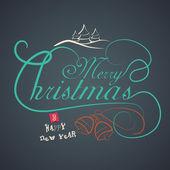 Fundo de celebração de Natal feliz. — Vetor de Stock