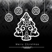 Fondo de celebración de navidad feliz. — Vector de stock