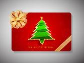 Mutlu yeni yıl 2014 ve merry christmas kutlama hediye kartı. — Stok Vektör
