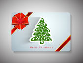 Gott nytt år 2014 och merry christmas celebration presentkort. — Stockvektor