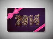 Feliz ano novo 2014 e cartão de presente de celebração de natal feliz. — Vetor de Stock