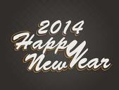 Fondo de celebración feliz año 2014. — Vector de stock