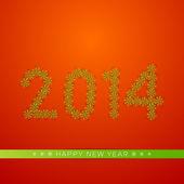 Šťastný nový rok 2014 oslava pozadí. — Stock vektor