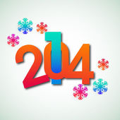 Happy New Year 2014 celebration background. — Stock vektor