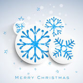 Merry Christmas and Happy New Year 2014 celebration party poster, banner or flyer. — Stock Vector