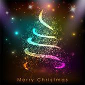 счастливого рождества и счастливого нового года 2014 празднование партии плакат, баннер или флаер. — Cтоковый вектор