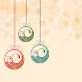 Merry Christmas and Happy New Year 2014 celebration party poster, banner or flyer. — Vector de stock
