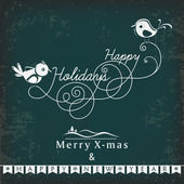 Merry Christmas and Happy New Year 2014 celebration party poster, banner or flyer. — Stockvektor