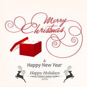 Calligraphic and typographic elements, frames, vintage labels, stickers, or tags for Merry Christmas and Happy New Year 2014 celebrations. — Stock Vector
