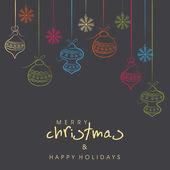 Wesoły Boże Narodzenie celebracja tło. — Wektor stockowy