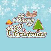Merry Christmas celebration background. — Stock Vector