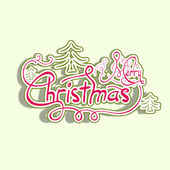 Merry Christmas and Happy New Year 2014 celebration party poster, banner or flyer. — Stockvector