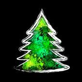 Merry christmas kutlama arka plan. — Stok Vektör