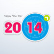 Happy New Year 2014 celebration background — Stock Vector