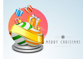 Merry Christmas celebration background. — Vector de stock