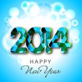 新年快乐 2014年庆典背景. — 图库矢量图片