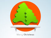 Merry Christmas celebration background. — Vecteur
