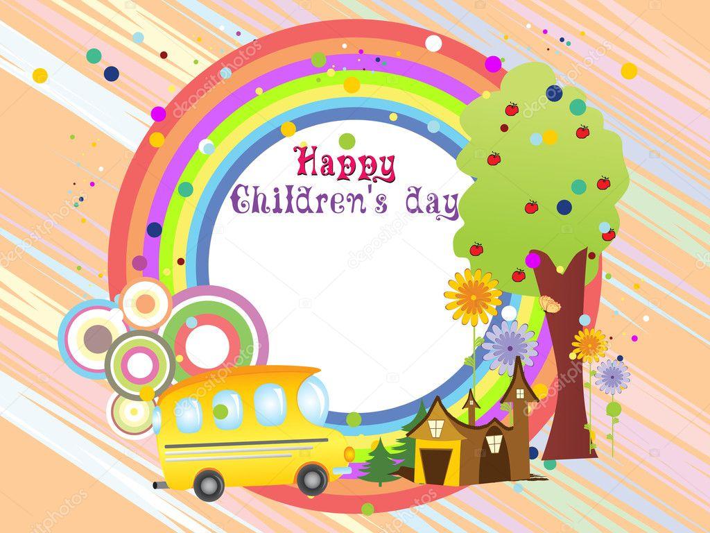 Illustration for children's day — Stock Vector ...