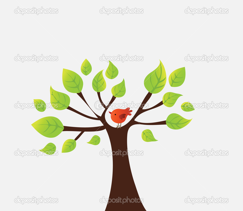 Vector tree with bird  Stock Vector #14843361