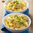 Pasta with olive tapenade - Stock Photo