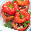 Stuffed paprika with meat and vegetables - Stock Photo