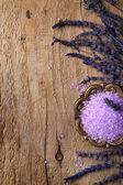 Spa frame met lavendel — Stockfoto