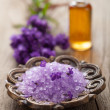 Spa set with fresh lavender — Foto Stock