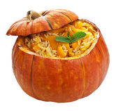 Pumpkin risotto isolated — Stock Photo