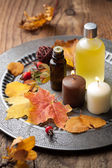 Autumn spa and aromatherapy — Stock Photo