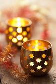 Burning lanterns — Stock Photo